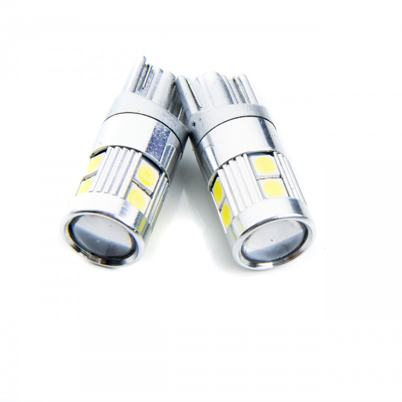W5W LED žárovky (9 x PHILIPS SMD 3030) 6000K CANBUS