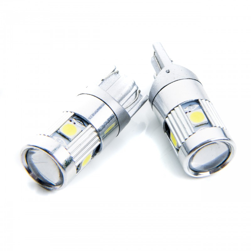 W5W LED žárovky (5 x PHILIPS SMD 3030) 6000K CANBUS
